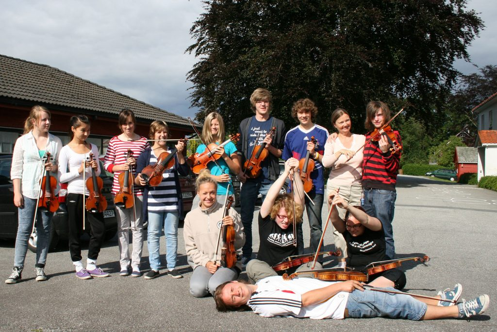 Fiolinister i symfoniorkesteret 2010